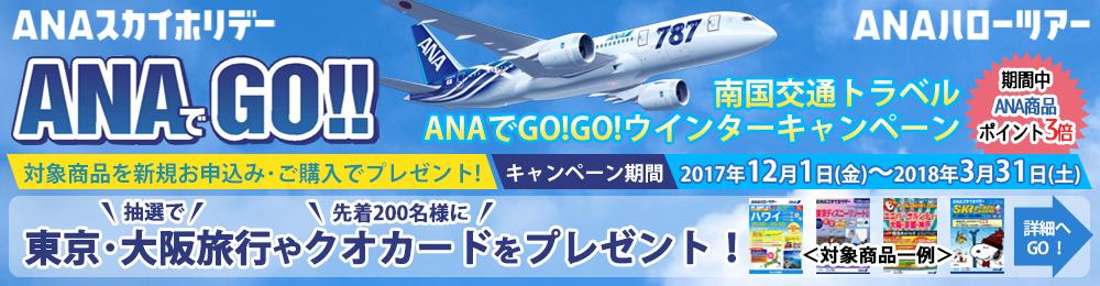 ANAでGOGO!!南国交通トラベルウィンターキャンペーン