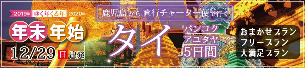 鹿児島から直行チャーター便で行く!年末年始タイ[バンコク][アユタヤ]5日間